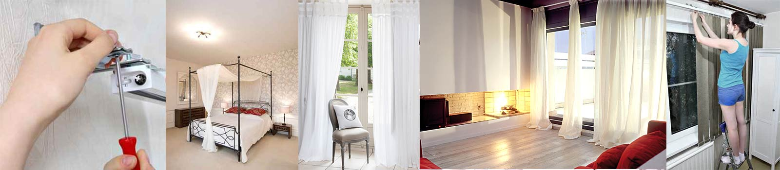 installation des rideaux voilages cr ativit et retouche. Black Bedroom Furniture Sets. Home Design Ideas